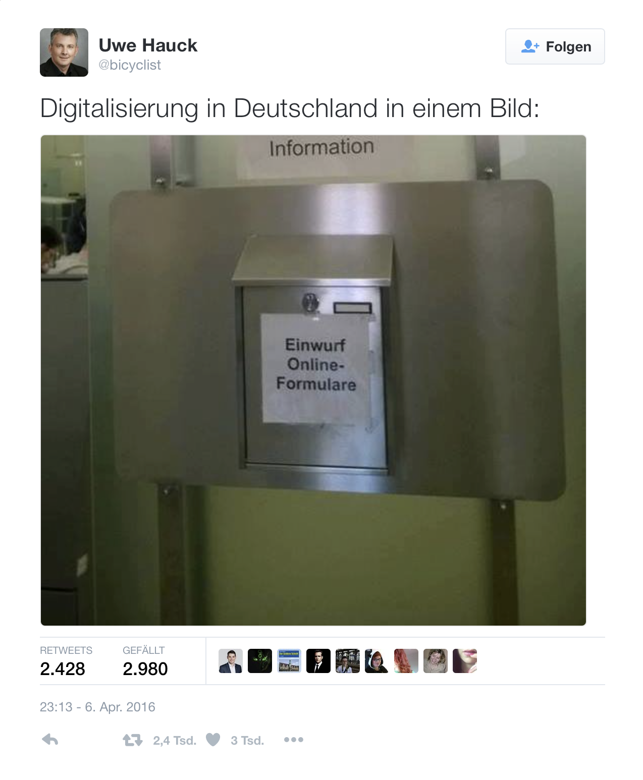 Tweet Digitalisierung